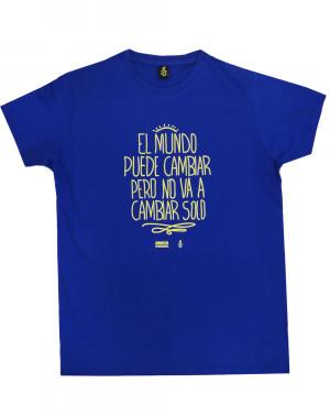 Camiseta con mensaje positivo de algodón orgánico Amnistía Internacional