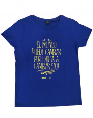 Camiseta ecológica con mensaje para mujer Amnistía Internacional algodón orgánico.