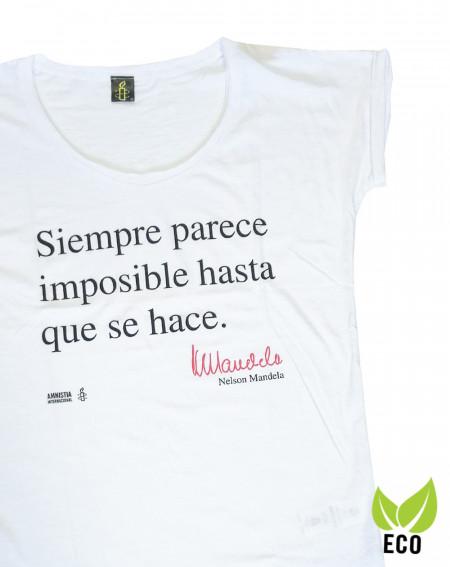 Camiseta solidaria mujer Mandela Amnistía Internacional