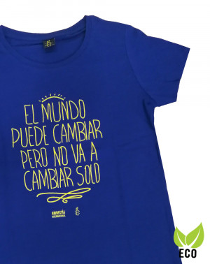 Camiseta ecológica con mensaje para mujer Amnistía Internacional
