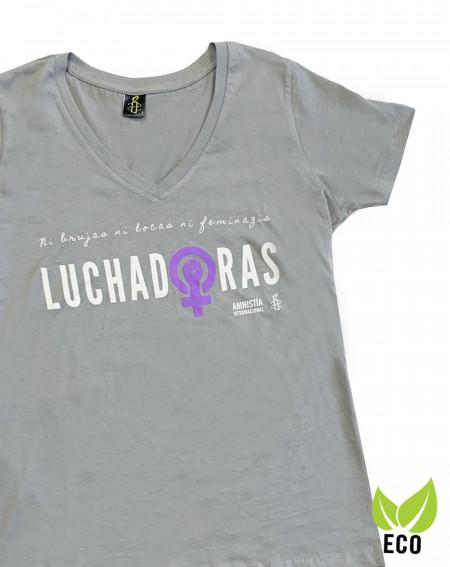 Camiseta ecologista y feminista 8 de marzo Amnistía Internacional color gris