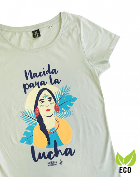 Camiseta ecologista y feminista Amnistía Internacional para mujer
