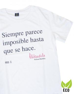 Camiseta solidaria hombre Mandela Amnistía Internacional