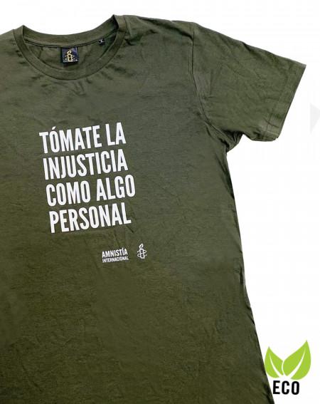 Camiseta con mensaje Justicia Amnistía Internacional
