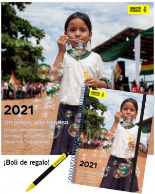 Pack Agenda y Calendario 2021 solidario Amnistía Internacional