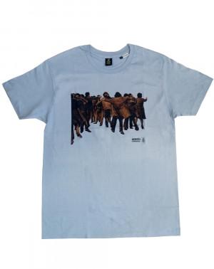 Camiseta hombre Juan Genovés Amnistía Internacional azul