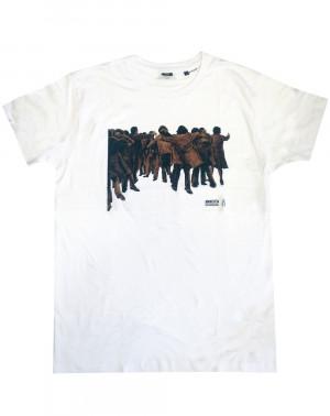 Camiseta hombre Juan Genovés Amnistía Internacional blanca