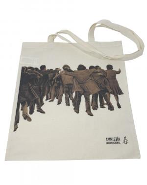 Bolsa algodón orgánico Juan Genovés Amnistía Internacional