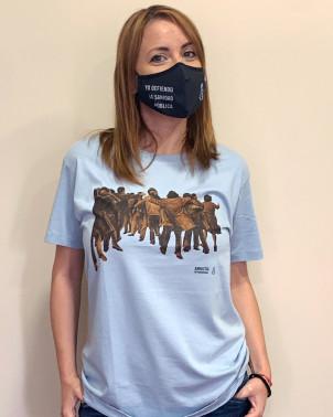 Camiseta unisex Juan Genovés Amnistía Internacional azul