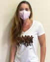 Camiseta mujer Juan Genovés Amnistía Internacional cuello pico algodón orgánico