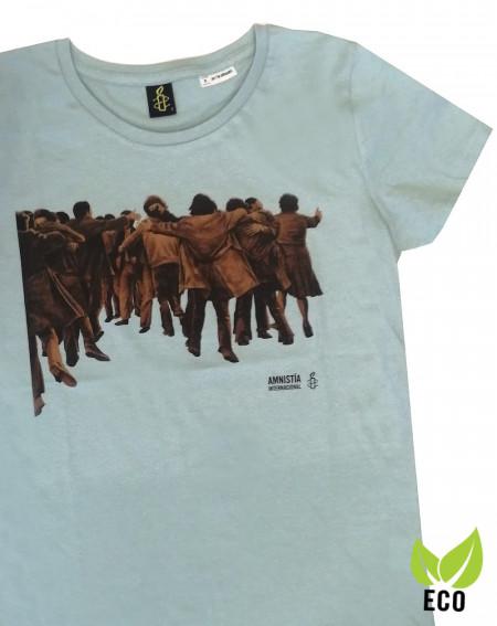 Camiseta mujer Juan Genovés Amnistía Internacional verde