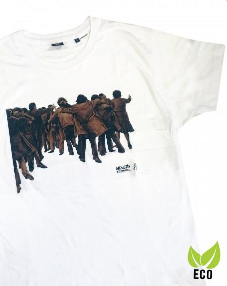 Camiseta chico Juan Genovés Amnistía Internacional blanca