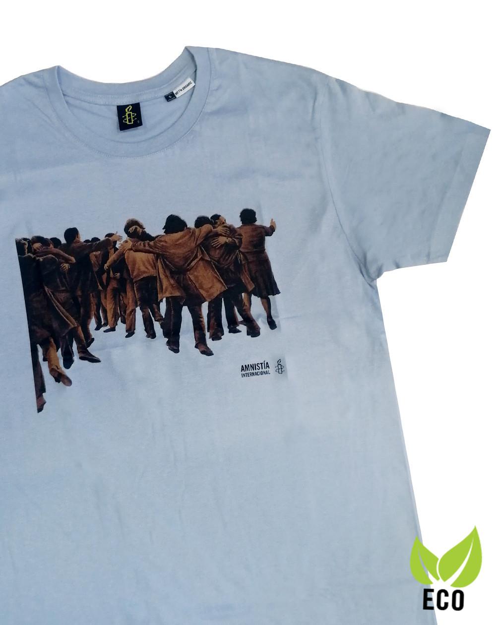 Camiseta chico Juan Genovés Amnistía Internacional azul