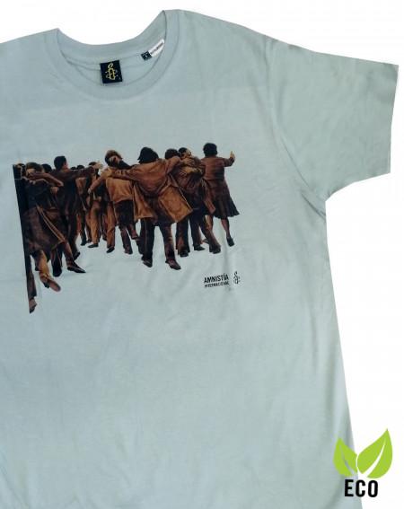 Camiseta chico Juan Genovés Amnistía Internacional verde