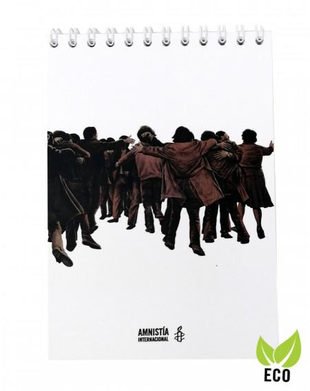 Bloc de notas El Abrazo Juan Genovés Amnistía Internacional