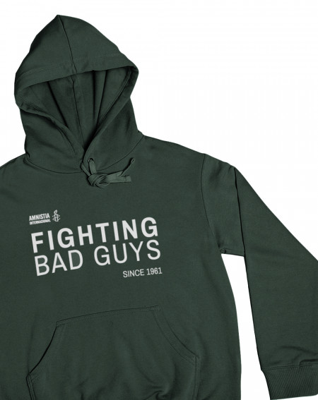 Sudadera original color verde Fighting Amnistía Internacional