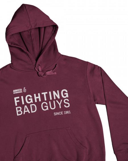 Sudadera original color granate Fighting Amnistía Internacional