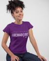 Camiseta morada feminista para mujer Amnistía Internacional Luchadoras