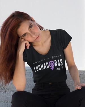 Camiseta feminista ecológica Amnistía Internacional Luchadoras