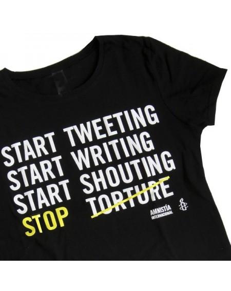 Camiseta entallada Stop tortura L